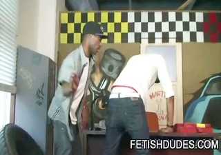 black stud blaine everett getting his booty